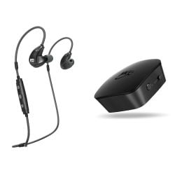 MEE audio X7 Plus Wireless Headphones and Connect TV Transmitter Bundle