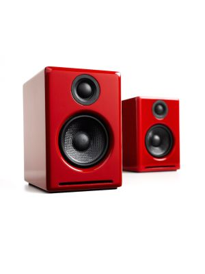 Audioengine A2+ Powered Desktop Speakers (Red)