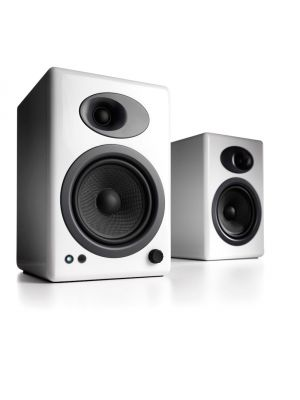 Audioengine A5+ Powered Desktop Speakers (White)