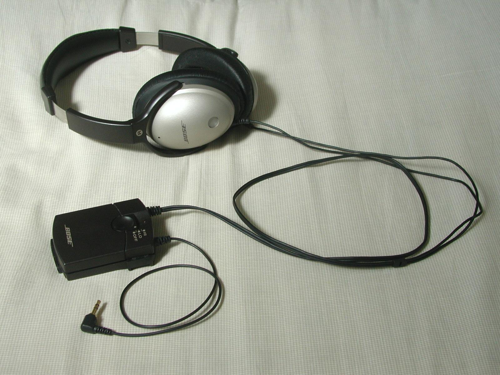 Bose Quiet Comfort1 اول سماعة مضادة للضجيج في العالم - الغاء الضجيج المحيط في السماعات
