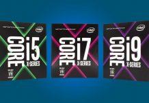 Core i9 Core i7 Core i5 X Series