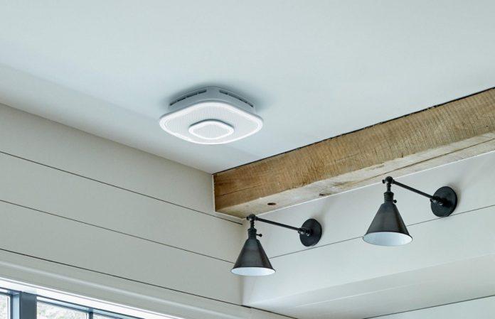 مكبر صوت لسقف الغرفة يعمل كجهاز إنذار حرائق