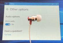 تحويل الصوت الى mono في ويندوز 10