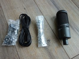Audio Technica AT2020 Cardioid Condenser USB Microphone Review