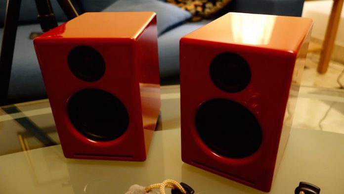 Audioengine A2 2-way Powered Speaker System Red Pr.