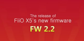 FiiO X5's new firmware (FW2.2)