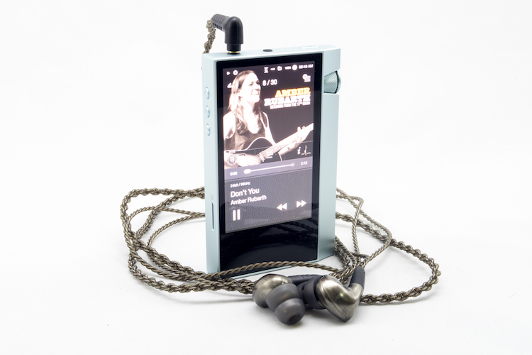 Astell kern ak70 player and mee audio pinnacle p1