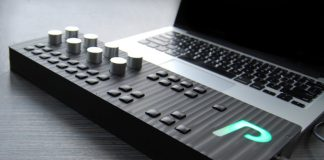 Controlled by AudioCubes, Percussa displays the Synthor System 8