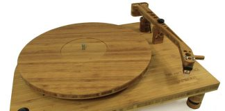Tri-Art bamboo turntable - eco-friendly turntable