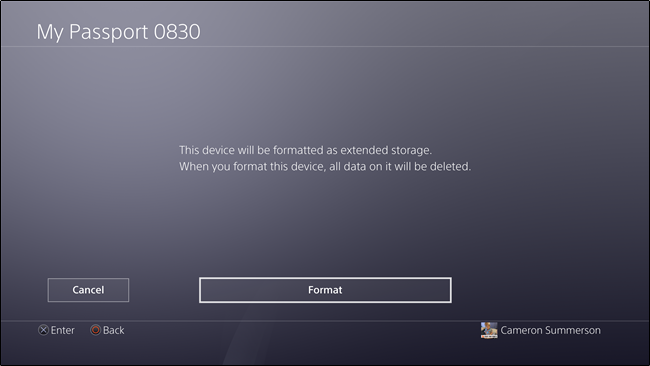 How to transfer the external disk into default storage on PlayStation 4