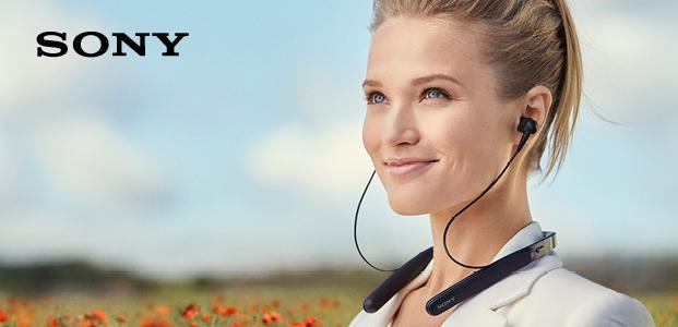 Noise Cancelling Wireless Behind-Neck In-Ear HeadphonesWI1000X