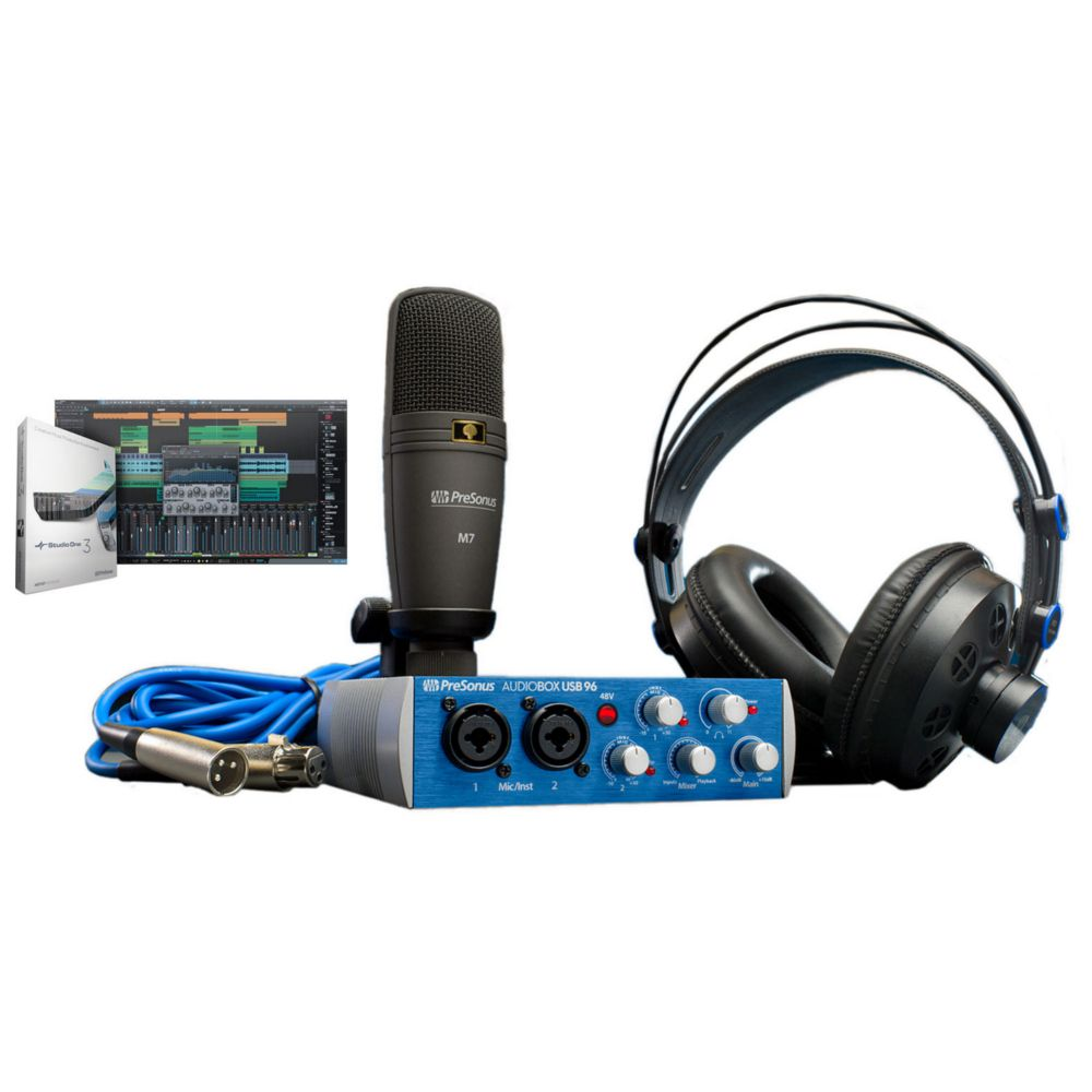 Presonus AudioBox 96 Studio Audio inetrface, Microphones, headphones Bundle