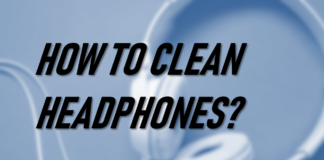 how to clean headphones cover