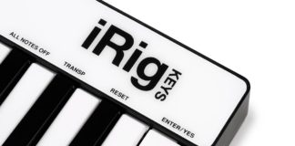 irig keys midi contoller
